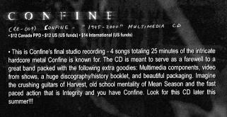 Re-Define Records ad in Full Contact Magazine describing the planned release.