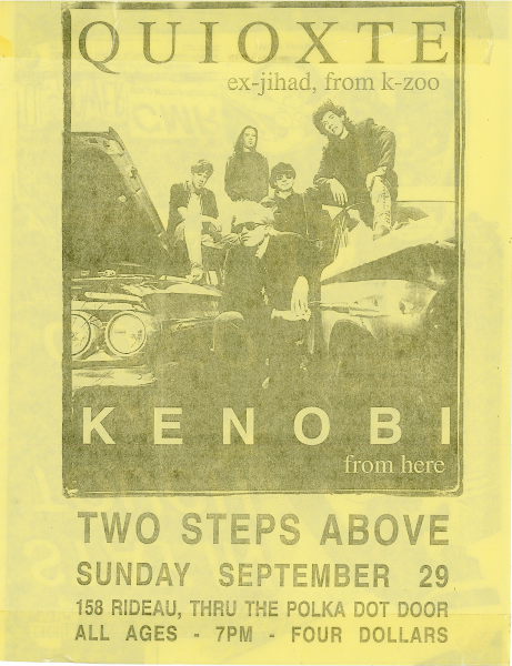 Kenobi performing at Two Steps Above on September 29th 1996 with Quioxte