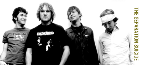 The Separation Suicide band photo used after John Shouten left the band. Photo by Gordon Ball